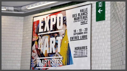EXPO4ART halle des blancs manteaux Paris Image 1
