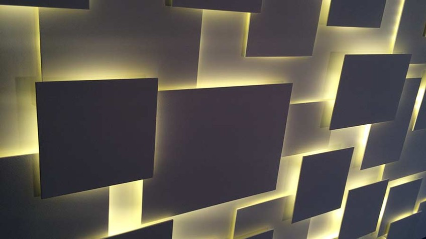 Sculpture luminaire murale - wall art